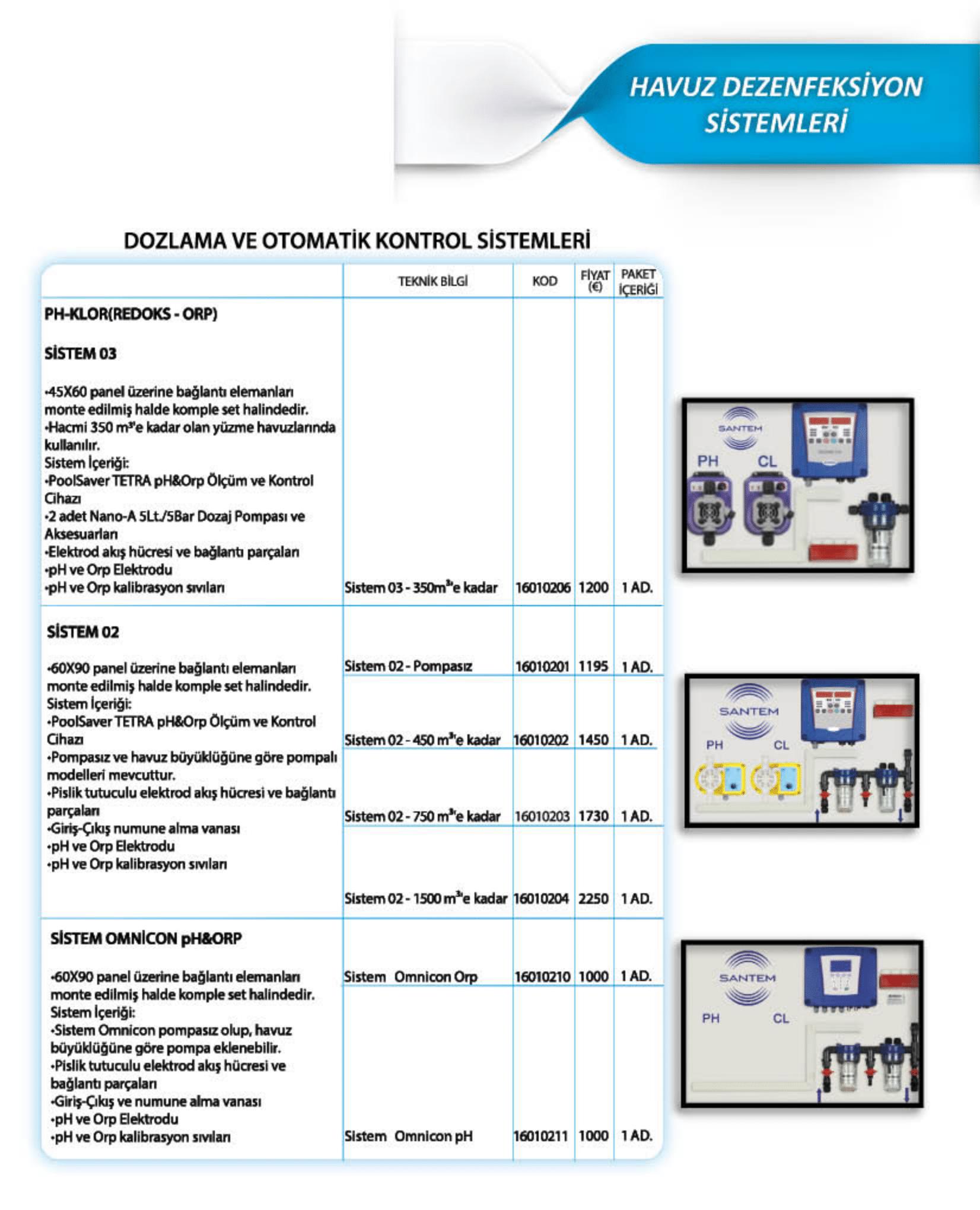 Dozlama ve Otomatik Kontrol Sistemleri Özellikler